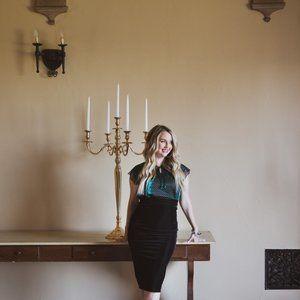Lularoe Ivy Faux Black Leather Midi Pencil skirt